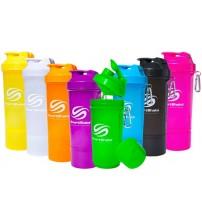 Шейкер Neon Slim от SmartShake 500мл (2 в 1) разные цвета